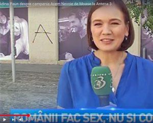 Adina Păun despre campania Avem Nevoie de Moașe