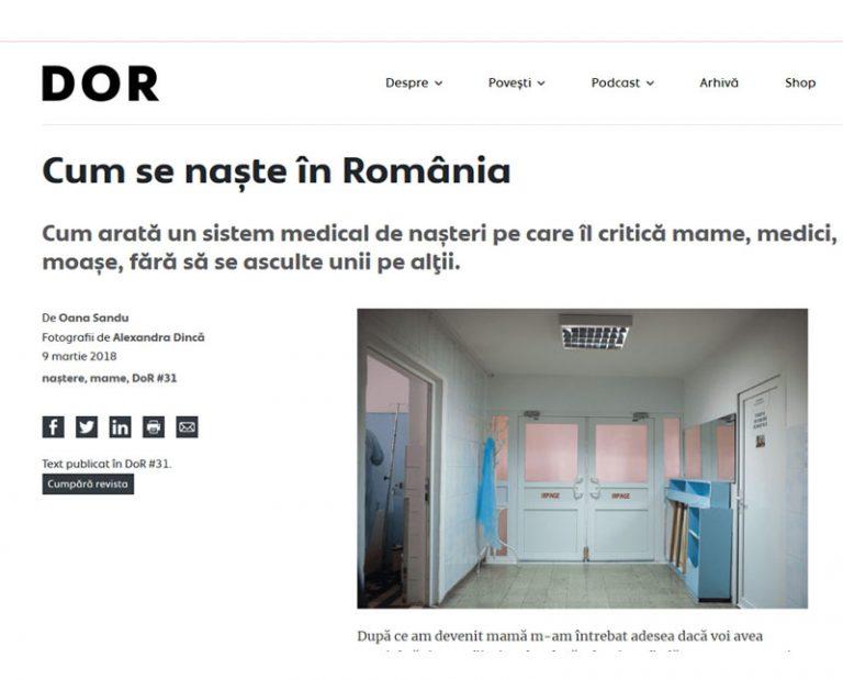 Cum se naște în România, de Oana Sandu